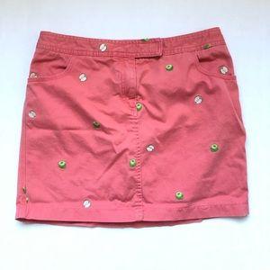 J Crew Apple Print Skirt With Pockets Size 8